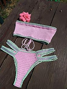 Bielizeň/Plavky - Výpredaj - Háčkované plavky Júlia - 10892791_
