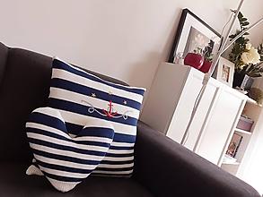 Úžitkový textil - Námornícke vankúšiky - 10892676_