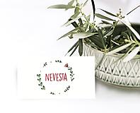 Papier - Menovka na stôl-vzor 03 - 10891612_