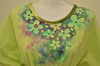 Šaty - WERA - bavlnené šaty s maľbou kvetov. - 10896300_