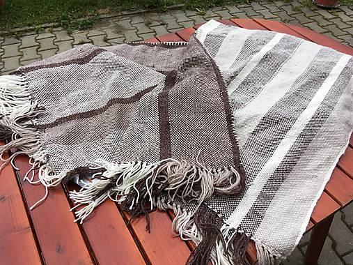 Tkaná deka merino-ľan, zošitá z dvoch pásov