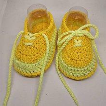 Topánočky - Háčkované tenisky - 10894864_