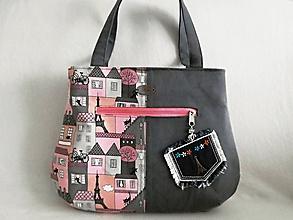 Veľké tašky - dámska kabelka - mačka v Paríži - 10894801_