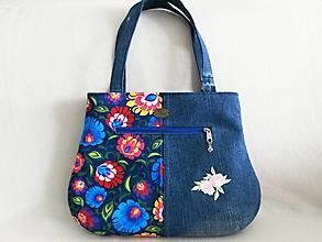 Veľké tašky - dámska kabelka - ružový kvet - 10894805_