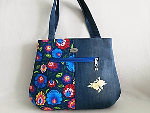 Veľké tašky - dámska kabelka - žltý kvet - 10894814_
