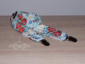 Doplnky - Folklórne pánske traky - 10896733_