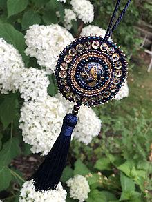 Dekorácie - ozdoba modrý páv no.109 - 10894332_