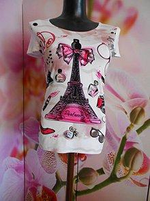 """Tričká - Tričko """" Paríž je moja láska... """" - 10894725_"""