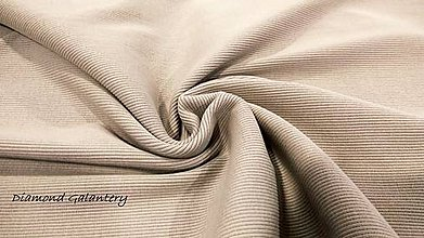 Textil - Patent rebrovaný - cena za 10 centimetrov látky (Béžová) - 10894775_