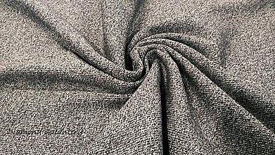Textil - Patent rebrovaný - cena za 10 centimetrov látky (Šedo melírová) - 10894777_