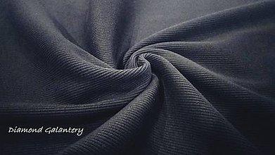 Textil - Patent rebrovaný - cena za 10 centimetrov látky (Čierna) - 10894778_
