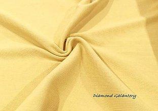 Textil - Patent rebrovaný - cena za 10 centimetrov látky (Žltá) - 10894783_