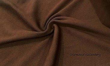 Textil - Patent rebrovaný - cena za 10 centimetrov látky (Škoricovo Hnedá) - 10894821_