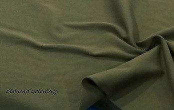 Textil - Patent rebrovaný - cena za 10 centimetrov látky (Vojenská Zelená) - 10894822_