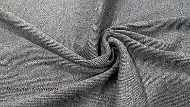 Textil - Patent rebrovaný - cena za 10 centimetrov látky (Šedo biely melír) - 10894824_