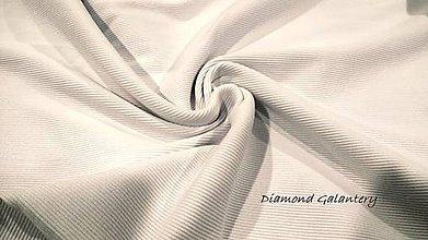 Textil - Patent rebrovaný - cena za 10 centimetrov látky (Biela) - 10894827_