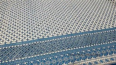 Textil - Madeira - modro biela - cena za 10 centimetrov - 10896308_