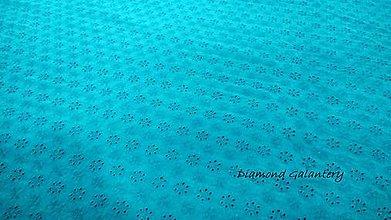 Textil - Madeira - modrá tyrkys - cena za 10 centimetrov - 10896329_