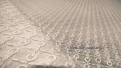 Textil - Madeira - biela vzor I- cena za 10 centimetrov - 10897355_
