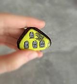 Dekorácie - Domčeky - maľované kamienky - 10897432_