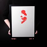 Obrazy - pomóc // maľba akrylom na papieri // A2 - 10895062_