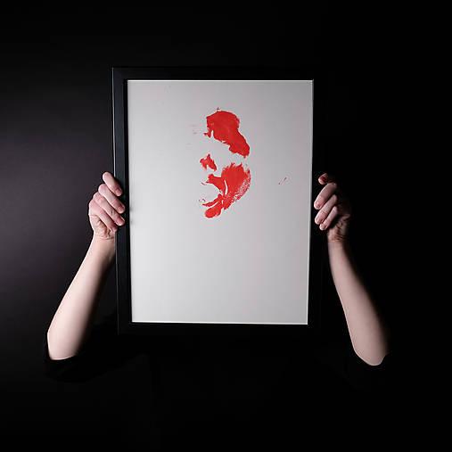 pomóc // maľba akrylom na papieri // A2