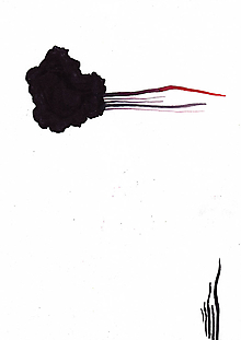 Obrazy - ESCAPE // akvarel na výkrese // A4 // abstraktná maľba - 10895069_