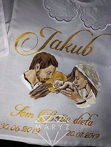 Detské oblečenie - Krstná košieľka svätá rodina - 10894309_
