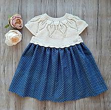 Detské oblečenie - Šaty jeans - 10896363_