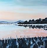 - originál akryl na plátne: Zimné ráno - 10896949_