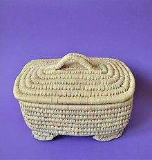 Košíky - EGYPT Pletený košíček - 10895370_