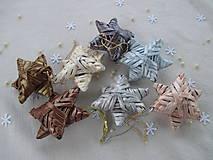 Dekorácie - Malá trblietavá hviezda - 10895105_