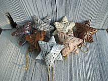 Dekorácie - Malá trblietavá hviezda - 10895107_