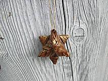 Dekorácie - Malá trblietavá hviezda - 10895258_