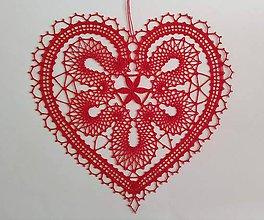 Dekorácie - Paličkované srdce - 10895038_