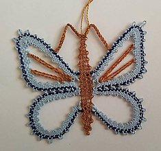Dekorácie - Paličkovaný motýlik 2 - 10895636_