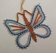 Dekorácie - Paličkovaný motýlik 2 - 10895637_