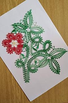 Dekorácie - Paličkovaný kvet 2 - 10895802_