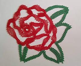Dekorácie - Paličkovaná ruža - 10895923_