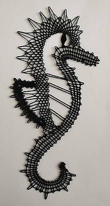 Dekorácie - Paličkovaný morský koník - 10895934_