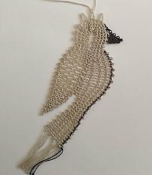 Dekorácie - Paličkovaný vtáčik - 10895979_