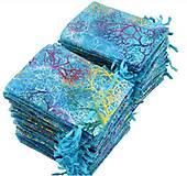 Obalový materiál - VO110 Vrecko organzové farebné - modré 7x9 cm - 10896668_