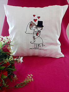 Úžitkový textil - Svadobný vankúšik - 10895692_