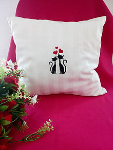 Úžitkový textil - Svadobný vankúšik VI - 10896023_