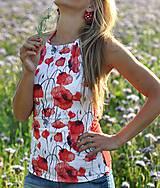 Tričká - Letný top Poppies - 10895819_