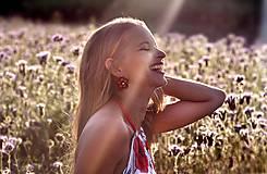 Tričká - Letný top Poppies - 10895821_