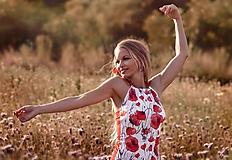 Tričká - Letný top Poppies - 10895822_