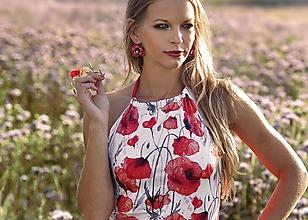Tričká - Letný top Poppies - 10895820_