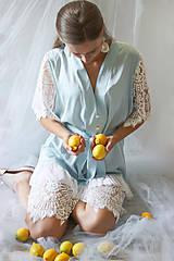Pyžamy a župany - Svadobný župan / Kaftanové šaty vo vintage štýle - 10895312_