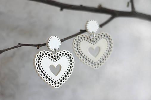 Čipkovance - srdce biele